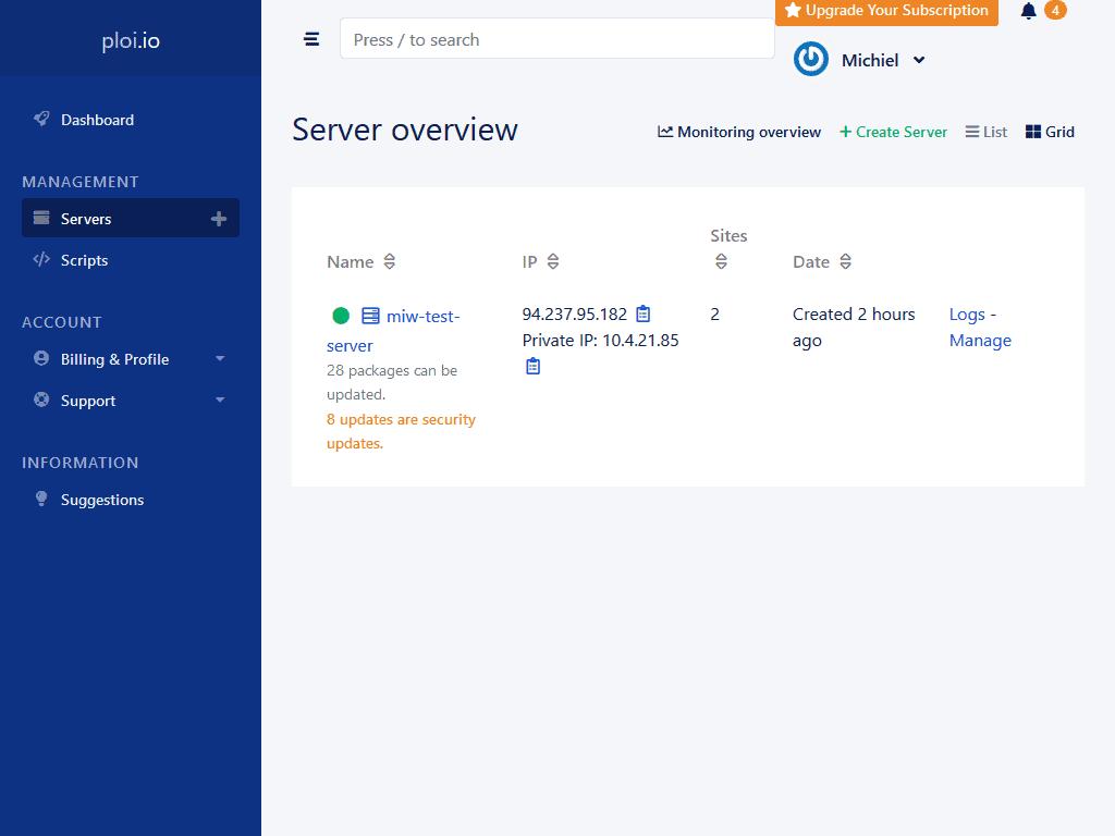 Ploi server overview