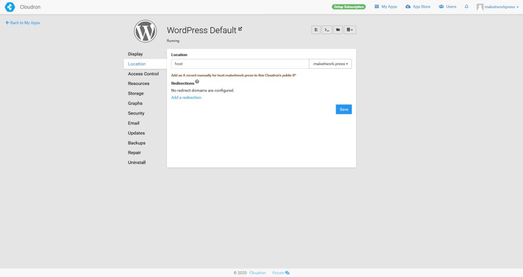 Cloudron (for WordPress) 1