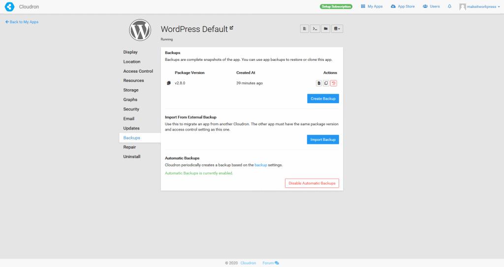 Cloudron (for WordPress) 7