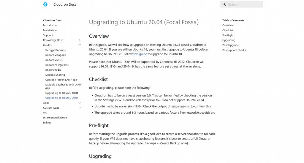 Cloudron (for WordPress) 8