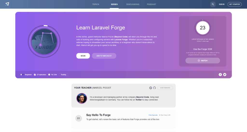 Laravel Forge Review: Learning with Laracasts