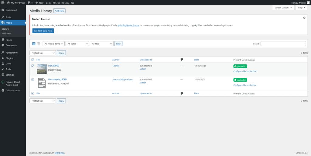 Direct Prevent Access Review bulk editing files screenshot